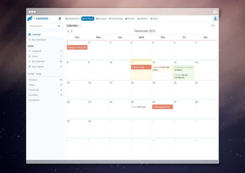 Browser Calendar Personal Task Management